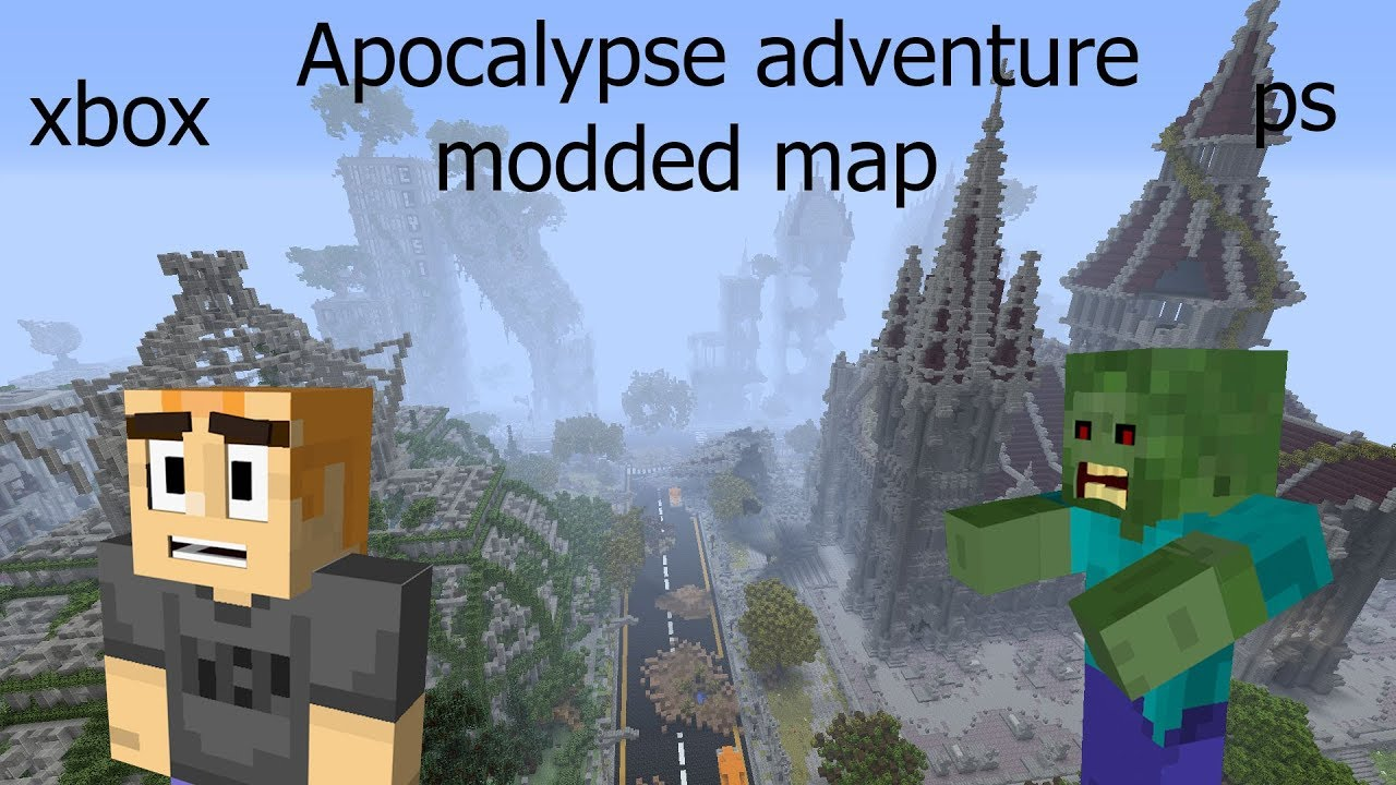 Minecraft Nintendo Switch: Zombie Apocalypse Survival map Download ...